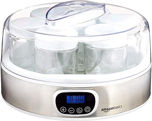 Amazon Basics - Yogurtiera con timer e 7 barattoli
