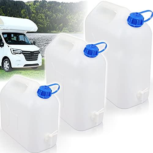 Stimo Kanister mit Hahn 5L oder 10L / Wasserkanister tragbar ideal für Camping oder das Auto (20L)