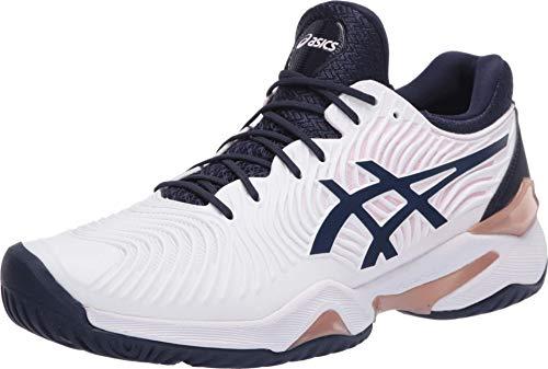 ASICS Women's Court FF 2 Tennis Shoes, 5M, White/Peacoat