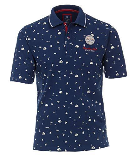 Redmond Herren Piquee Polo-Shirt Gemustert Mit modischer Stickerei 100% Baumwolle
