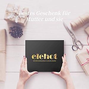 Lockenstab Set 5 in 1 LCD Multifunktions Keramik Lockenwickler Kit Austauschbare mit Hitzeschutzhandschuh von ELEHOT