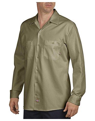 Dickies - - LL307 - Industriel Shirt à manches longues de travail en coton, 2X-Large x Regular, Desert Sand
