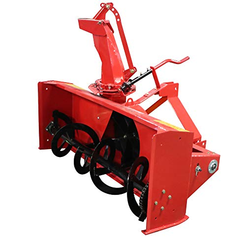 Product Image of the Titan Distributors Inc. Category 1, 3 Point 5' Snow Blower PTO Driven with Directional Snow Chute for Kubota, and Massey Tractors