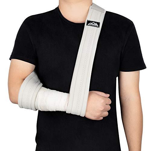 SupreGear Armschlinge, Verstellbar Leicht Komfortabel Schulterschlinge, Atmungsaktiv, Medizinische Schulterstütze für Verletzten Arm/Hand/Ellenbogen - 180cm