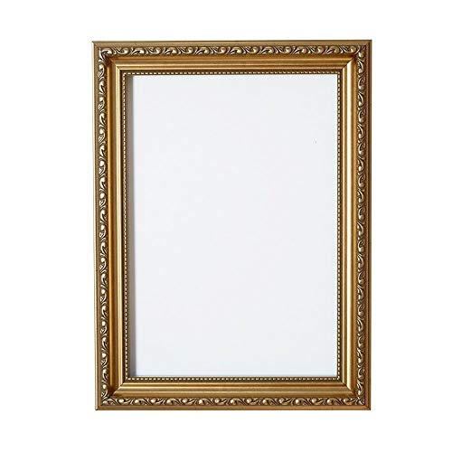 Verzierter Bilderrahmen im - Gold a1 - Shabby Chic B/Foto/Posterrahmen - Mit Rückwand MDF Platte - Mit einem bruchsicheren Plexiglas aus Styrol für hohe Klarheit