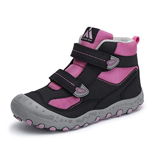 Mishansha Unisex-Kinder Wanderschuhe Jungen Wanderstiefel Mädchen Outdoor Trekking Schuhe rutschfeste Trekking- & Wanderhalbschuhe Violett C 25 EU