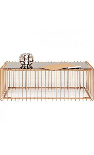 Kare Design - Table Basse 115 cm cuivre et Miroir Wire