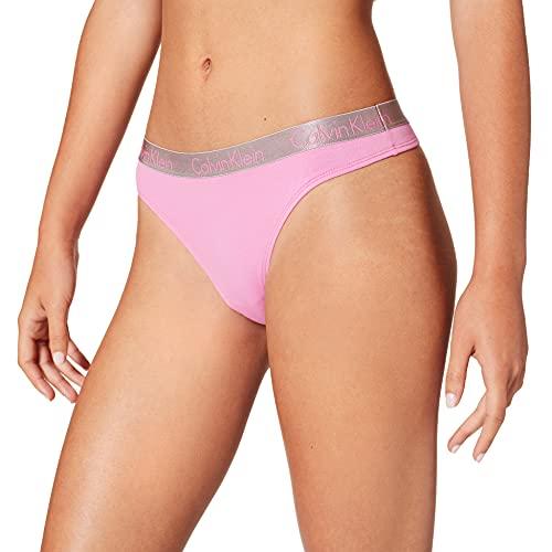 Calvin Klein Thong Tanga, Lluvia Lila, XL para Mujer