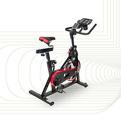 SportPlus Speedracer, Speedbike mit Tablethalterung, brustgurtkompatibel, Sattel und Lenker individuell einstellbar, ca. 13 kg Schwungmasse, manuelle Widerstandsstufen, Heimtrainer SP-SRP-2100-i