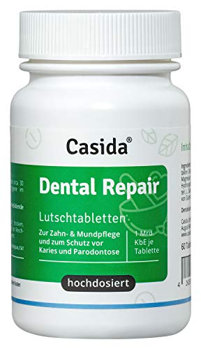 Dental Repair Lutschtabletten - Schutz vor Karies, Parodontose und Zahnfleischentzündungen - Hochdosiert: Mind. 1 Mrd KbE + Vitamin D3 - Vegan - 60 Stück