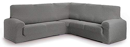 Funda para sofá rinconero Hecho de Tejido Adaptable Spongy tamaño Normal (hasta 450 cm) - Color 06