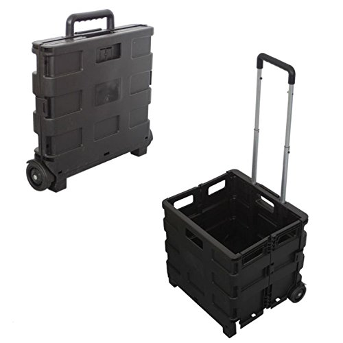 Einkaufstrolley, Einkaufskorb, Transportroller, Transportbox, Einkaufstrolley, Faltbox mit Teleskopgriff