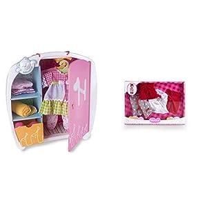 Nenuco Armario de Juguete (Famosa 700010346) + Pack de ropita Deluxe de Invierno (Famosa 700015382)