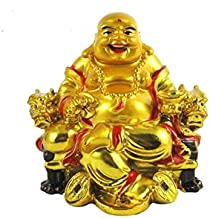 S A Gifts Sai Amrut Feng Shui Laughing Buddha Showpiece/Idol/Statue for Home Decor & Gift - (Design Available) (Design-1)