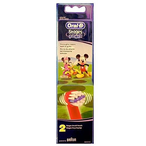 Braun Oral-B Stages Power Kids Aufsteckbürsten Micky Maus 2er Pack Bürstenköpfe Kinder EB10-2K Mickey Mouse