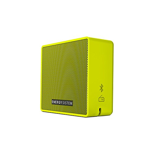 Energy Sistem Box 1+ Altavoz inalámbrico portátil con Bluetooth (5 W, microSD MP3, FM Radio, Audio-In) - Pear