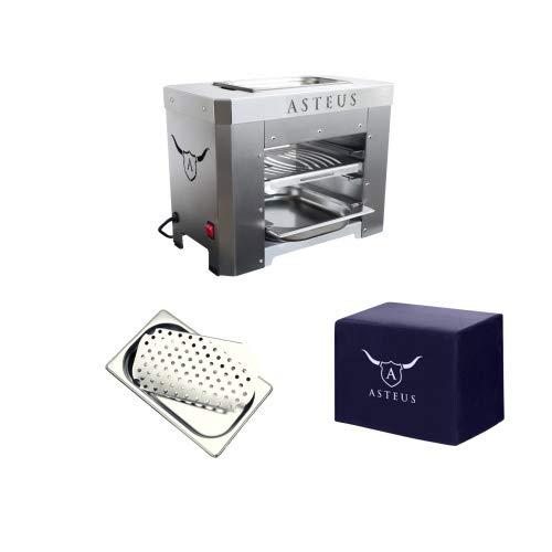 Asteus Steaker V2 Aktions-Set Bundle Elektro Infrarot Grill bis 800° C Edelstahl