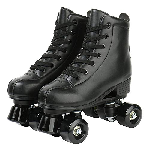jessie Leather Roller Skates Roller Skates for Women Outdoor and Indoor Adjustable Four-Wheel...