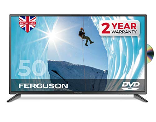 """Ferguson F5020F 50"""" inch Full HD LED TV With DVD Player, Freeview HD, 3 x HDMI & USB - British Manufacturer (New 2020 Model)"""
