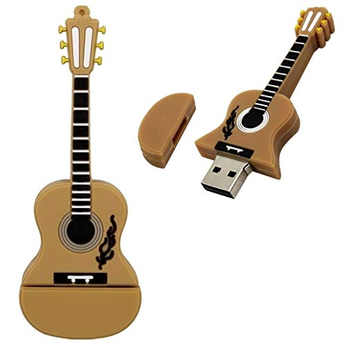Pen drive de 32Gb Instrumentos Musicais Músico Violão Marrom