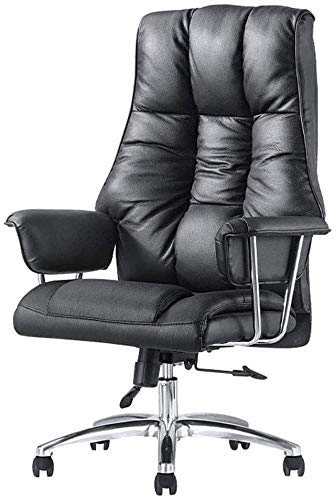 WSDSX Sillas de Oficina Silla de Oficina de Cuero, Silla de Escritorio reclinable para computadora con Respaldo ergonómico segmentado y Acolchado Grueso
