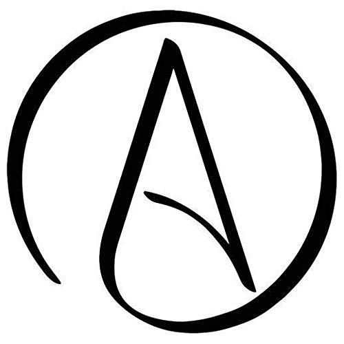 Atheist Circle Symbol Printed Decal Sticker - 5' Sticker for Cars Windows Notebooks Lockers Etc