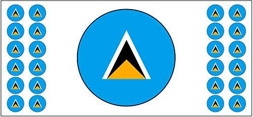 Saint Lucia Flagge, Banner – Poster – Party-Dekoration – Feier – Event – Weltmeisterschaft (2 Stück)