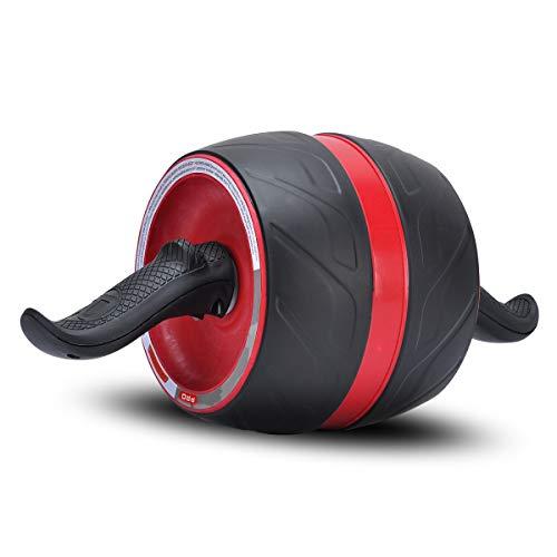 COVVY AB Carver Pro Roller,Core Workout Estómago Abdominal Musculación Fitness Ejercicio,Equipo De Entrenamiento con Rodilla Estera Entrenador De Ruedas para Gimnasia De Musculación (Wine Red)