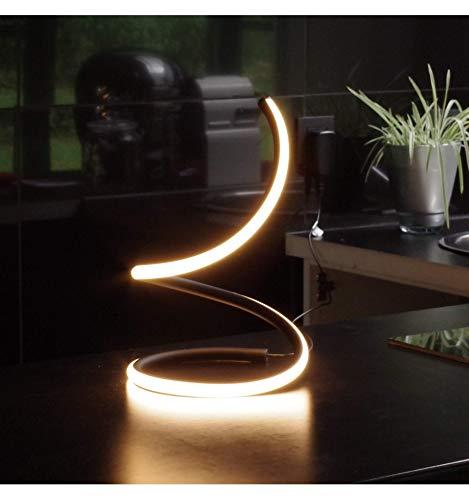 KOSILUM - Lampe câble de table à poser LED interrupteur tactile- Laika - Lumière Blanc Chaud Eclairage Salon Chambre Cuisine Couloir - 13W - 1056 lm - LED intégrée - IP20