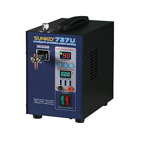 Sunkko 737U Battery Spot Welder Welding Machine for 18650 Lithium Batteries with Charging Function 0.2mm