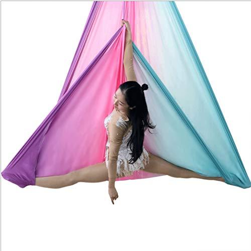 AIJIANG Fly Premium Aerial Silks, para El Hogar Yoga Sling Correas Extensión Antigravity Aerial Yoga Indoor Swing Hamaca de Yoga aérea (Color : B, Size : 5m)