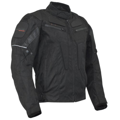 ROLEFF RACEWEAR Motorradjacke Riga RO 301, schwarz, XXXL, 3017