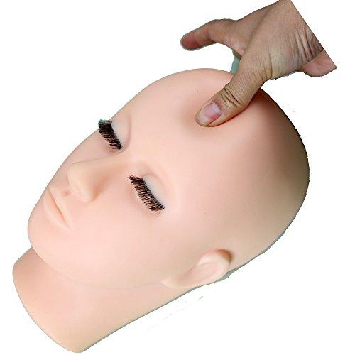 Eseewigs Entrenamiento con maniquí Maquillaje de práctica Suave rostro de...