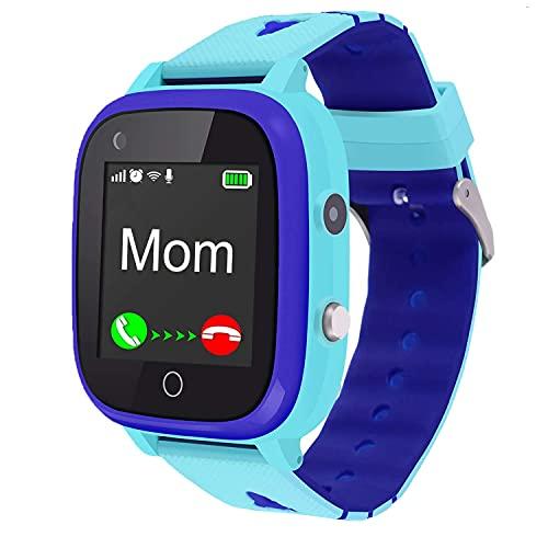 4G Kids Smart Watch,Kids Phone Smartwatch w GPS Tracker,Call,Alarm,Pedometer,Camera,SOS,Touch Screen WiFi Bluetooth Wrist Watch Boys Girls Smartphone,3-12 Years Old Children Student Birthday Gift