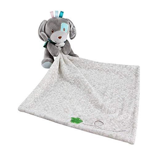 Manta cómoda Parches Perros felpa Snuggler Seguridad regalos de cumpleaños Blanky Navidad (gris)
