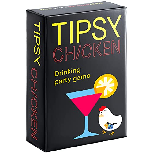Tipsy Chicken Drinking Card Game – Party or Bachelorette Cards for Adults – Tabletop Outrageously Hangout Cheers (Fun Dares for Game Night)