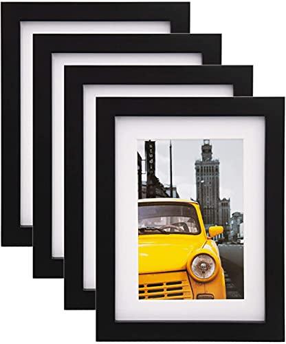 Cadre Photo 10 x 15 cm Noir Lot de 4, Comprenant...