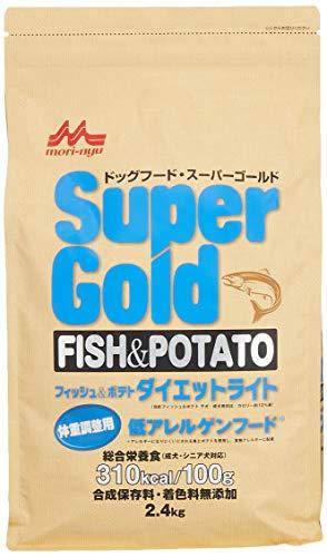 スーパーゴールドフィッシュアンドポテトダイエットライト犬用2.4kg