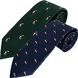 HOWARDS Pack x2 ud. corbatas jacquard, presentadas en caja de regalo individual. (ESPAÑA/GOLFISTA)