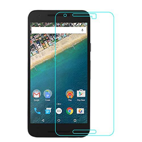 Nutbro 2 protectores de pantalla de cristal para LG Google Nexus 5X 0,3 mm, ultrafino, cristal templado de dureza 9H, con revestimiento antihuellas dactilares