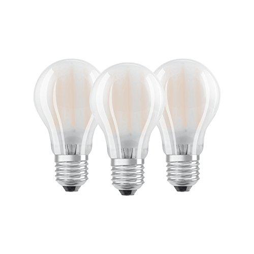 Preisvergleich Produktbild Osram LED Base Classic A Lampe,  in Kolbenform mit E27-Sockel,  nicht dimmbar,  Ersetzt 60 Watt,  Matt,  Warmweiß - 2700 Kelvin,  3er-Pack