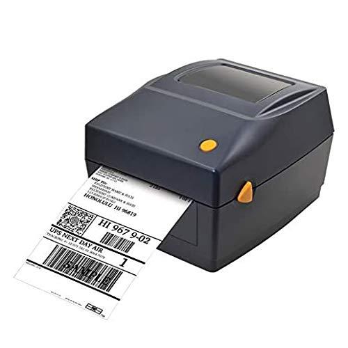 Printers Thermo-Etikettendrucker, Desktop-Etikettendrucker USB-Direkt-Hochgeschwindigkeits-Etikettiermaschinen Etikettendrucker für 4x6-Versandetiketten Barcode Kompatibel mit Windows