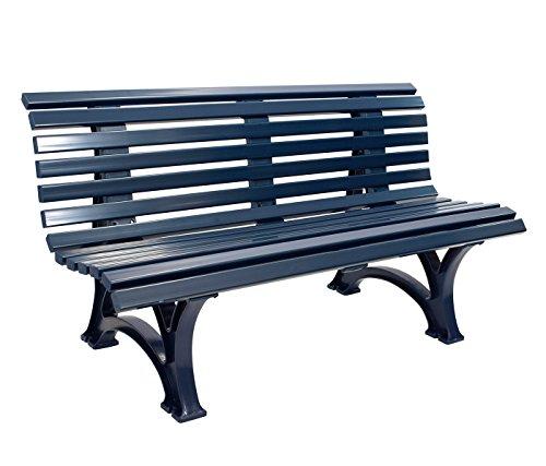 Gartenbank 3-sitzer / 150cm aus Kunststoff dunkelblau, wetterfest