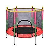 Trampolines Ruxingug, cama elástica para niños de 1,5 m con red de salto y cubierta de resorte acolchada para saltar en interiores y exteriores, para la escuela, para entretenimientos familiares, rojo