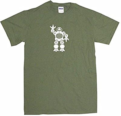 99 Volts 50's Style Robot Logo Big Boy's Kids Tee Shirt Youth Medium-Olive