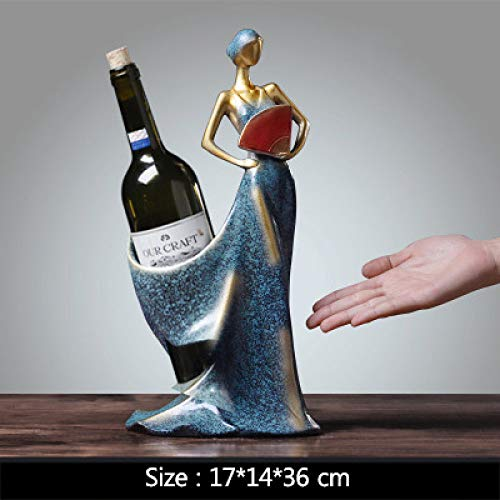 Diaosuw Skulpturen,Nordic Vintage Resin Statuen Kreative Wein Cabinet-Red Statuetten Handwerk Modell Ornamente Fotografie Hintergrund Requisiten Figuren Für Haus Cafe Einrichtung