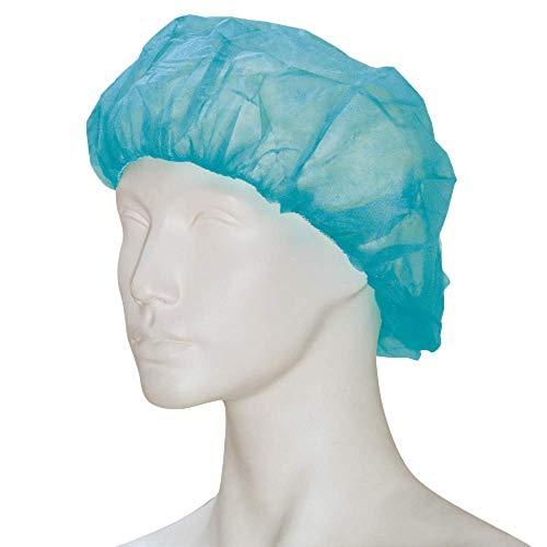 100 Stück Baretthauben, grün, 52 cm (L) aus PP-Vlies, im Polybeutel, (Schwesternhauben Kopfhauben Hygiene Vlieshauben Einmalhauben Baretthauben) - Marke BICAP