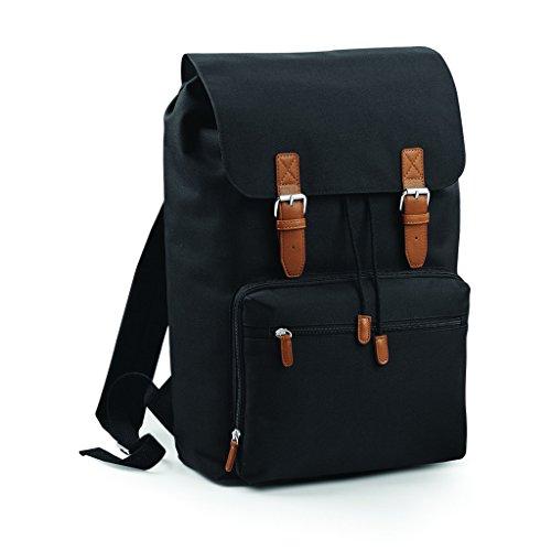 Bag Base-Zaino scomparto computer portatile-18L-bg613-Vintage Laptop Backpack-Colore Nero