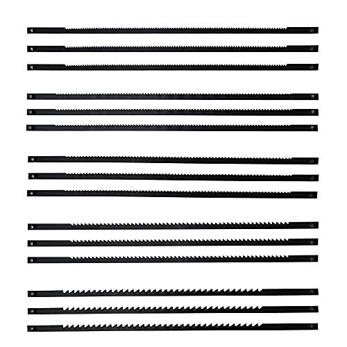 SneiDr 15 Pezzi Lama per Sega da Traforo Lame per Sega a scorrimento 10 14 18 21 24 Denti Fine Lame Per Seghe a Telaio Lame Traforo Elettrico Fine con Pernetto Trasversale per Legno Metallo Plastica