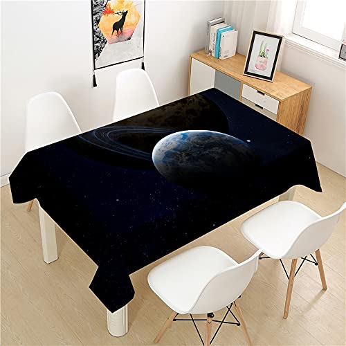 XXDD Cosmic planet tablecloth picnic table rectangular light luxury table cover home dust-proof washable table decoration tablecloth A2 150X210CM
